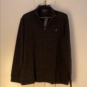 🐎 NWT Polo Ralph Lauren Men's 1/4 Zip Sweater - L